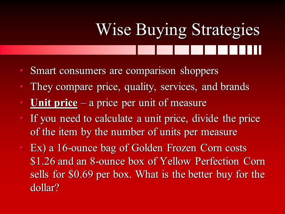 Wise Buying Strategies