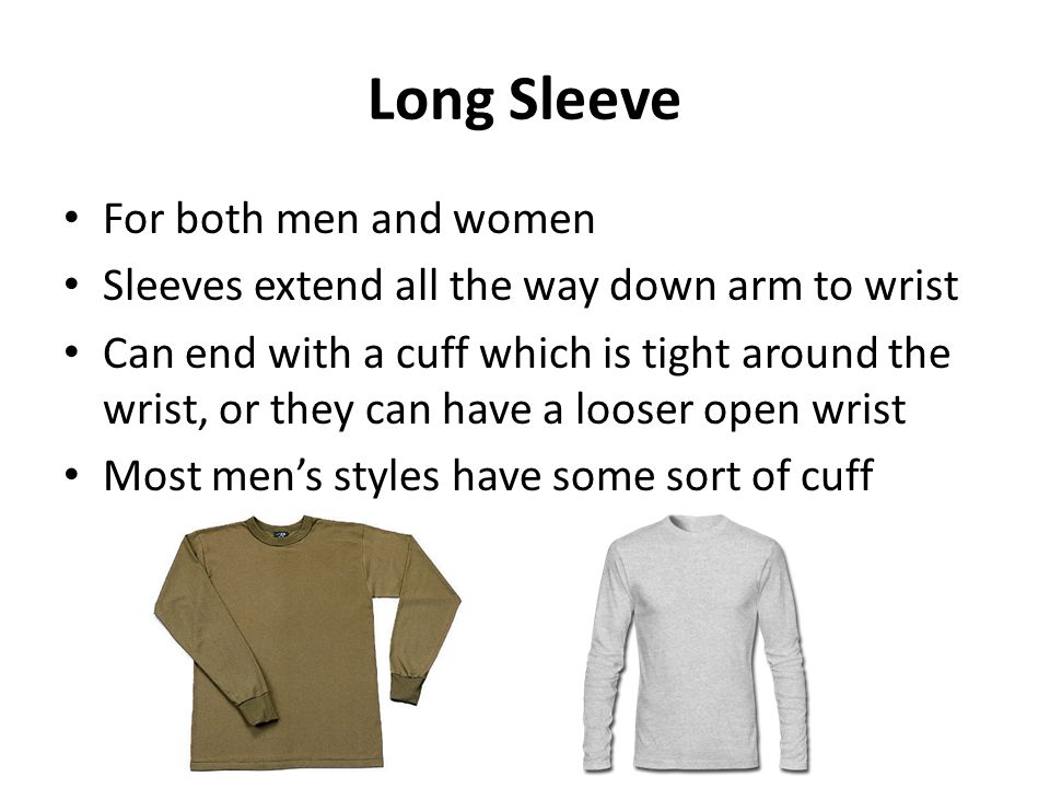 Long Sleeve For both men and women