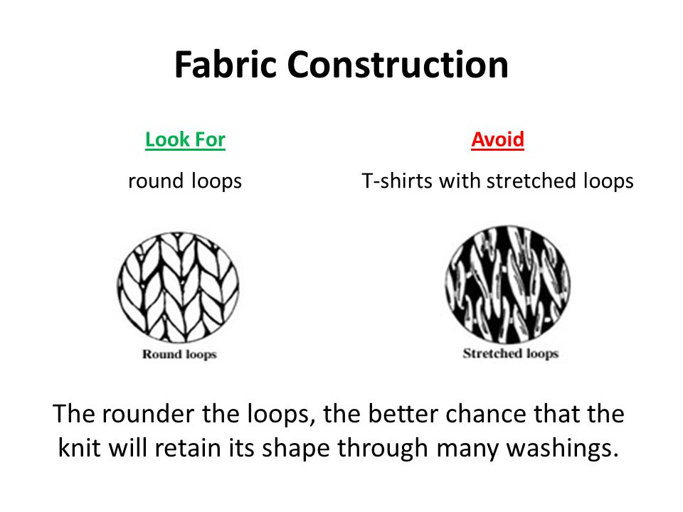 T-shirts with stretched loops