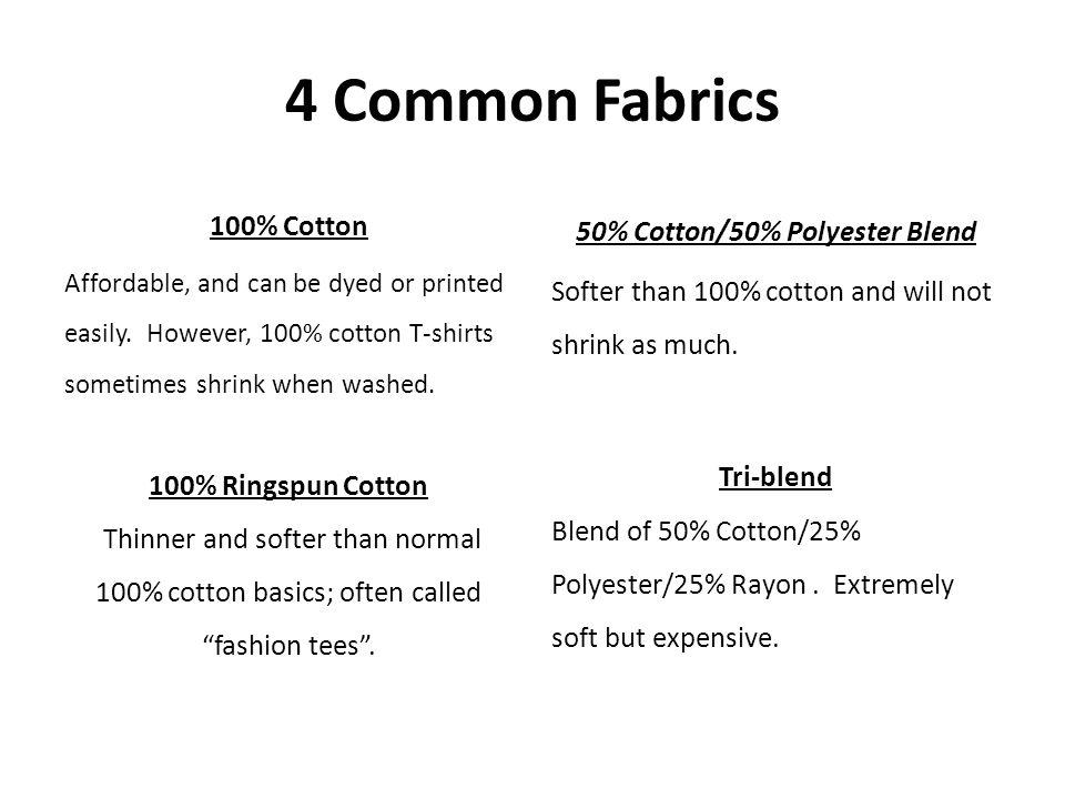 50% Cotton/50% Polyester Blend