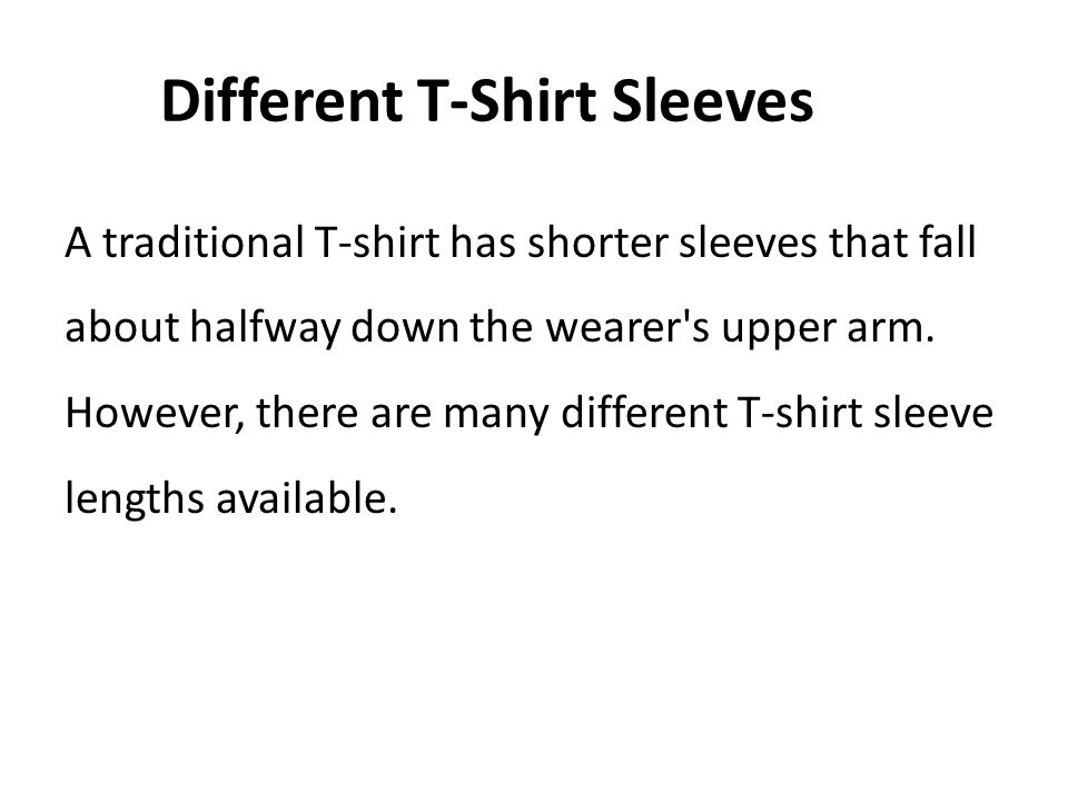 Different T-Shirt Sleeves