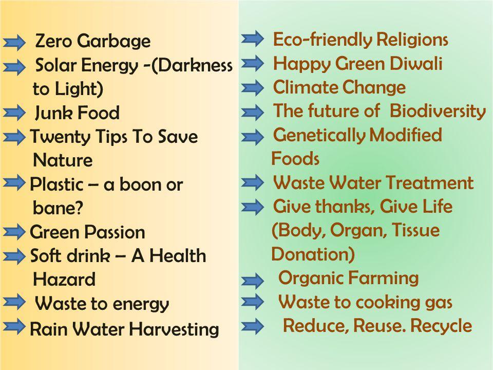 Zero Garbage Eco-friendly Religions Solar Energy -(Darkness to Light)