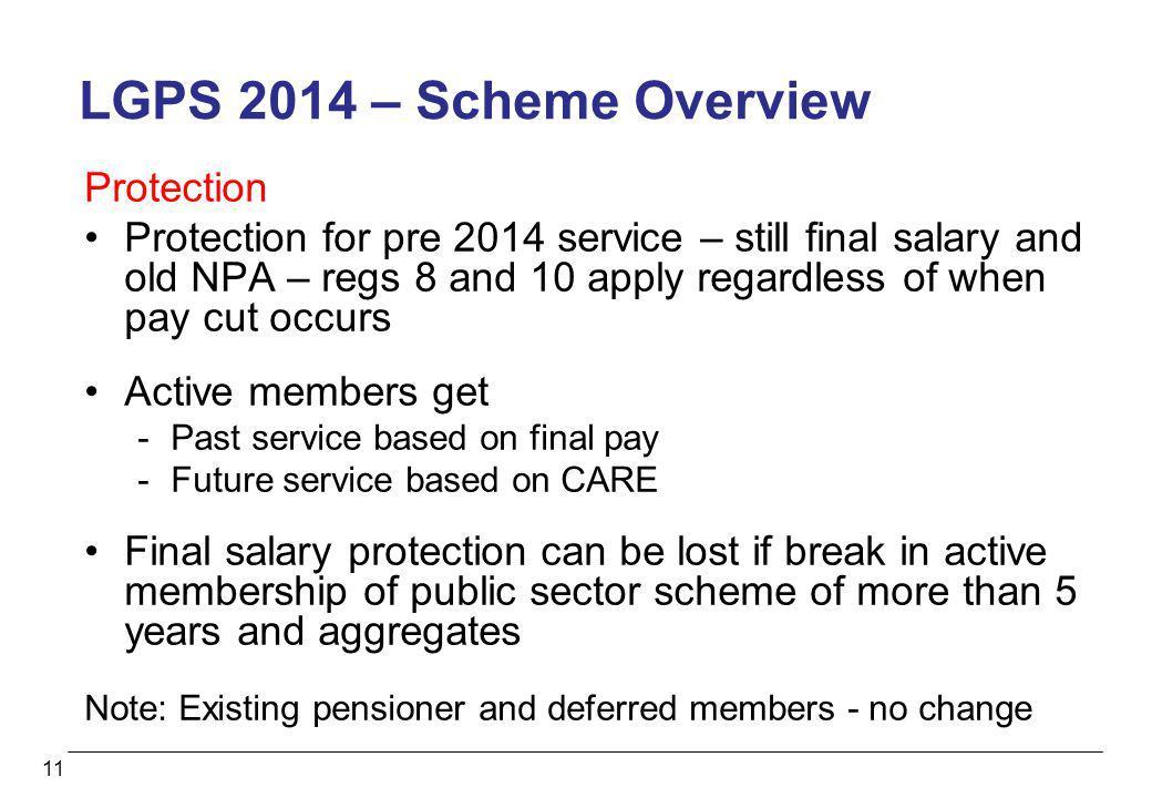 LGPS 2014 – Scheme Overview Protection