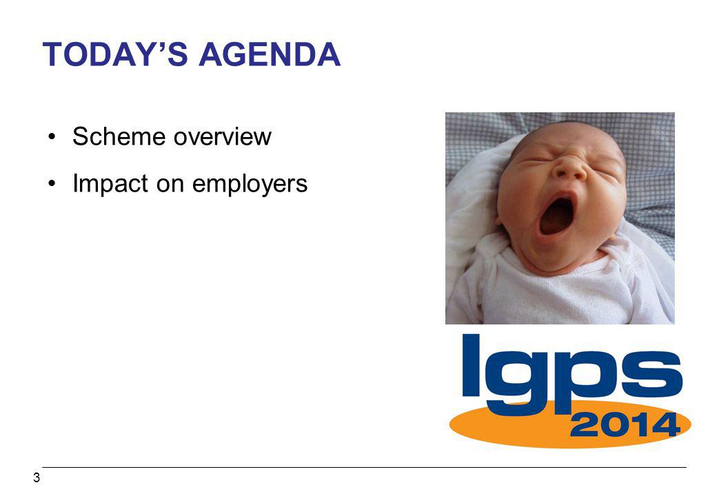 TODAY'S AGENDA Scheme overview Impact on employers