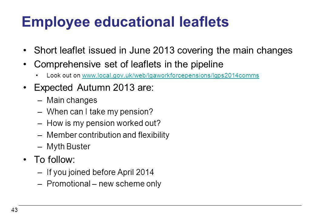 Employee educational leaflets