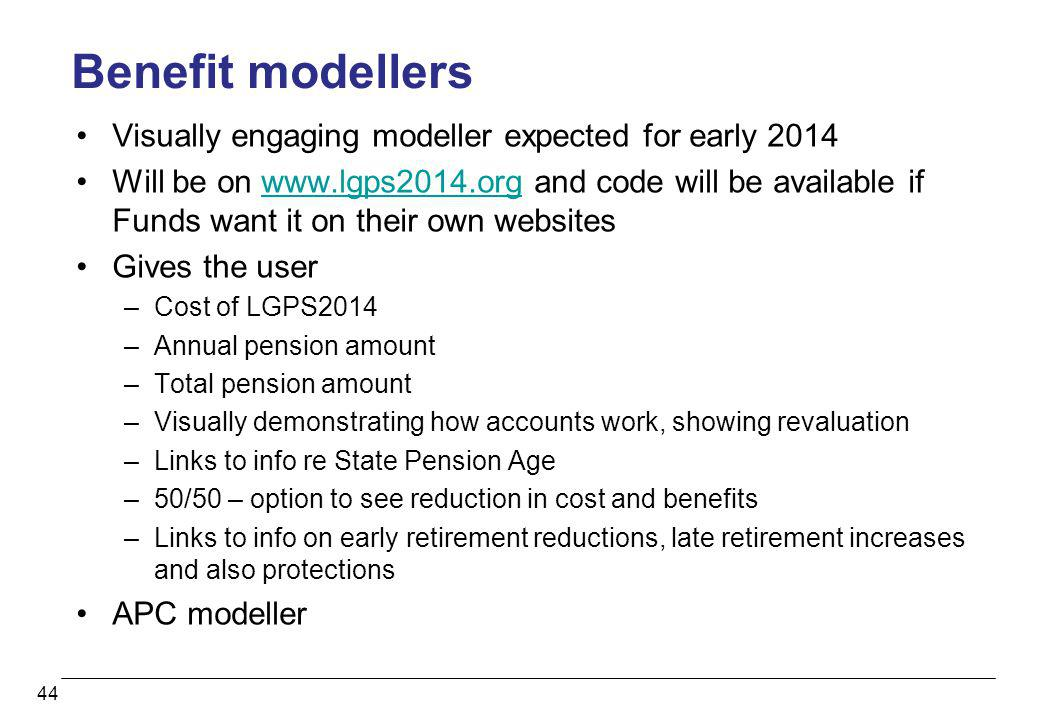 Benefit modellers Visually engaging modeller expected for early 2014