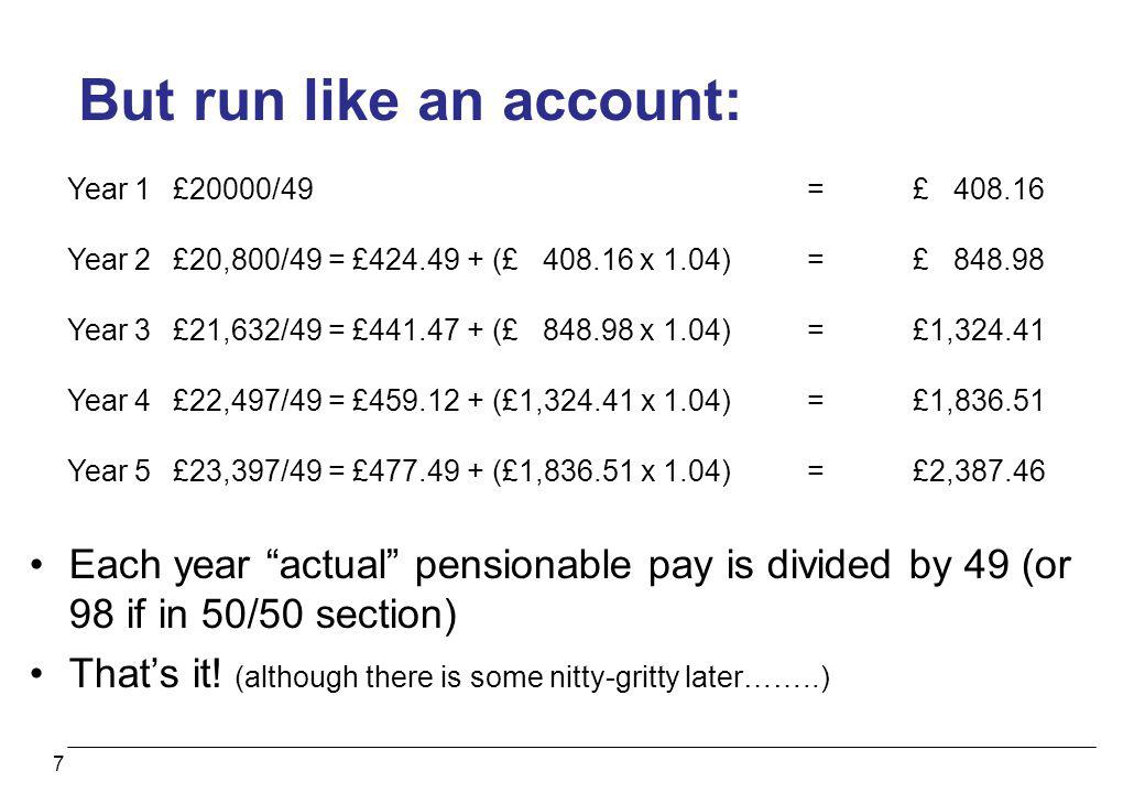 But run like an account: