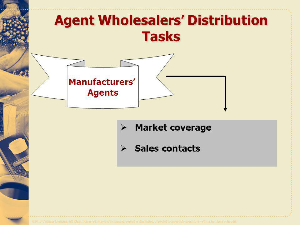 Agent Wholesalers' Distribution Tasks