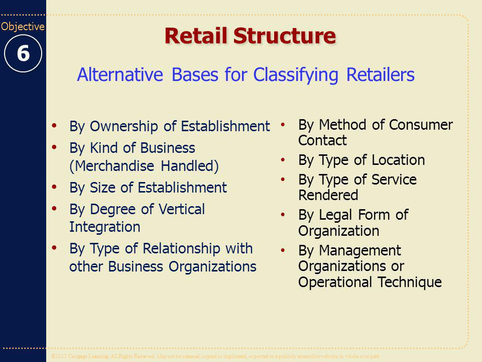 Alternative Bases for Classifying Retailers