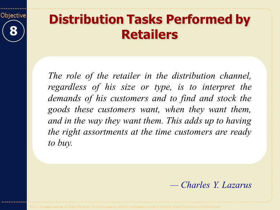 Distribution Tasks Performed by Retailers