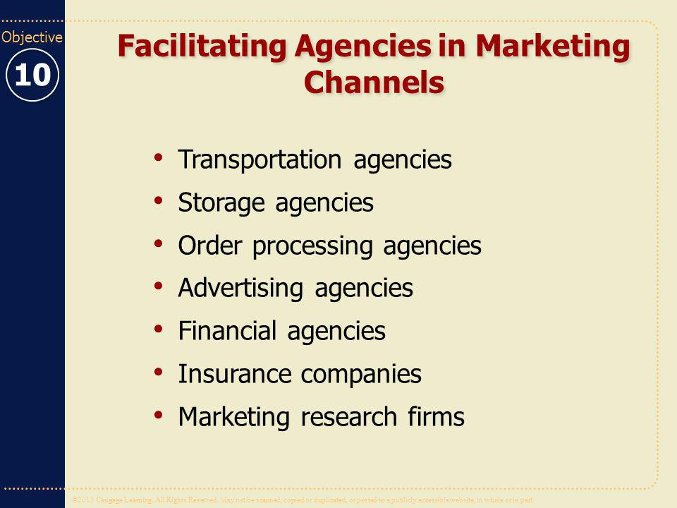 Facilitating Agencies in Marketing Channels