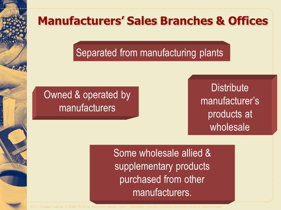 Manufacturers' Sales Branches & Offices