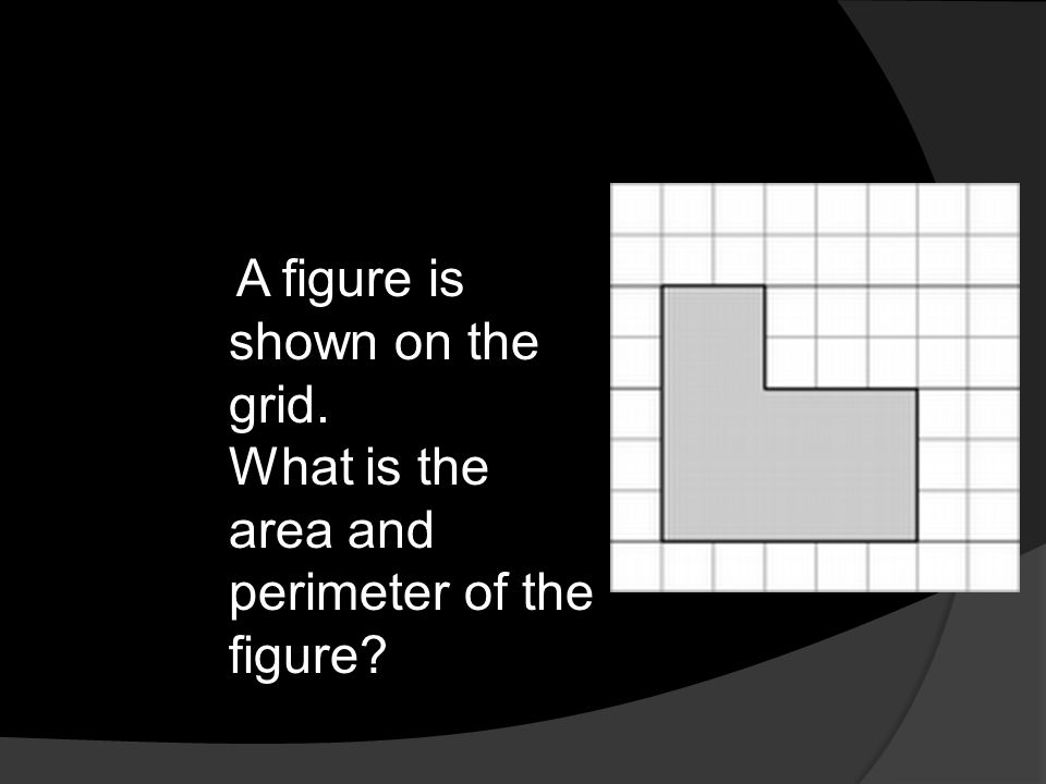 What is the area and perimeter of the figure