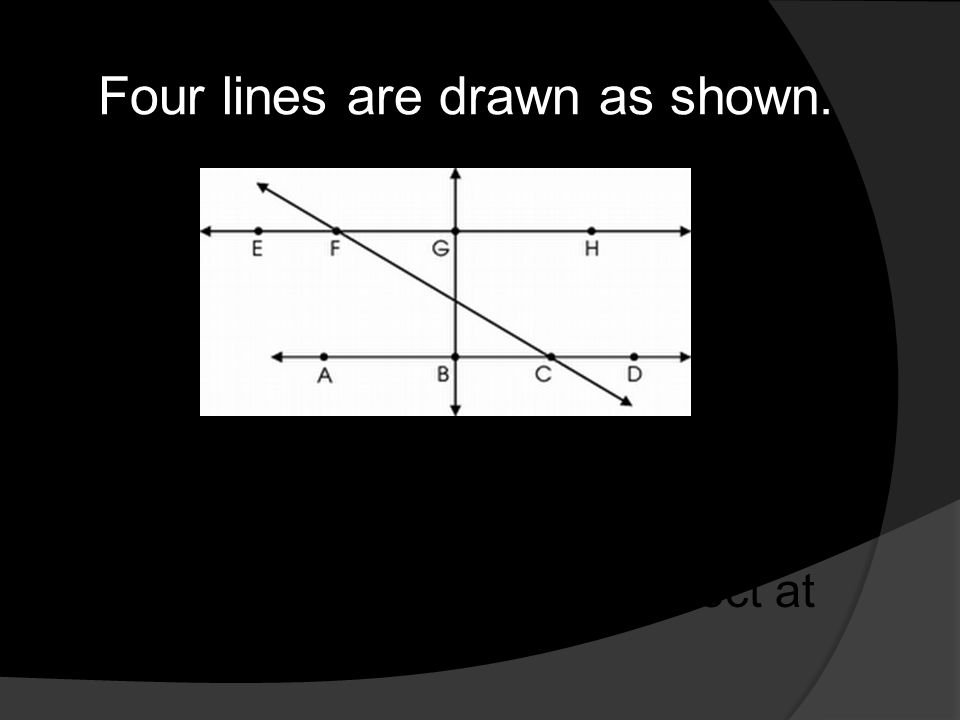 Four lines are drawn as shown.