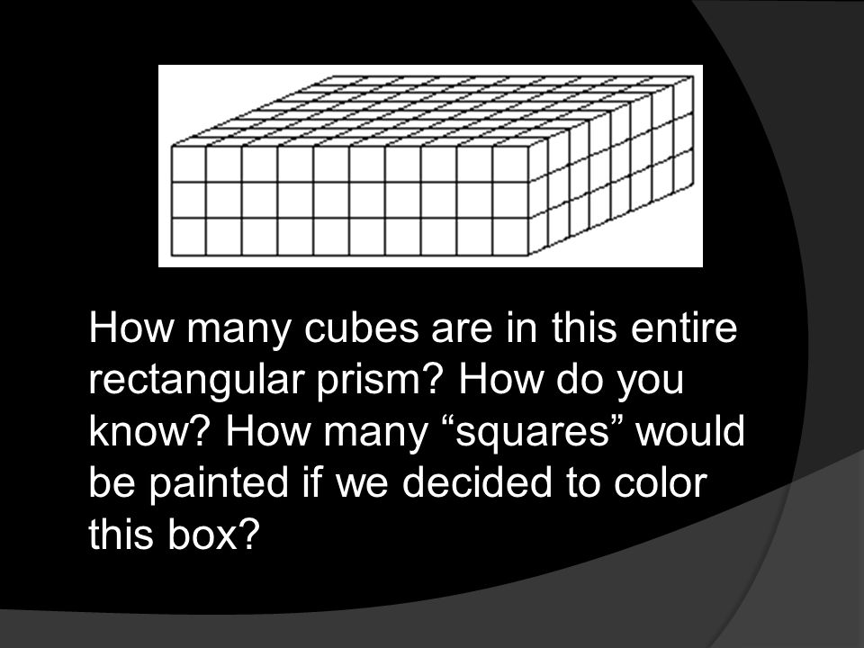 How many cubes are in this entire rectangular prism. How do you know