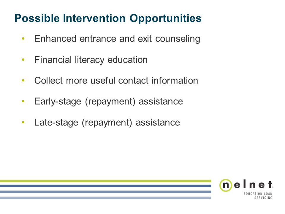 Possible Intervention Opportunities