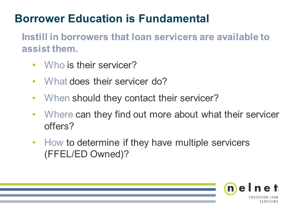 Borrower Education is Fundamental