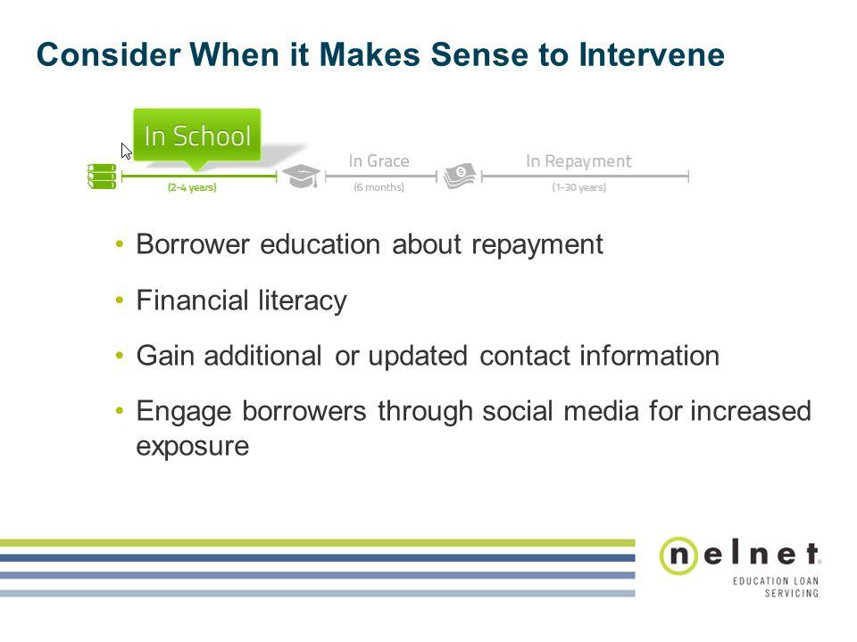 Consider When it Makes Sense to Intervene
