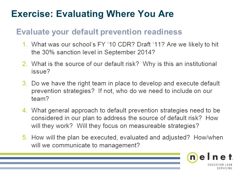 Exercise: Evaluating Where You Are
