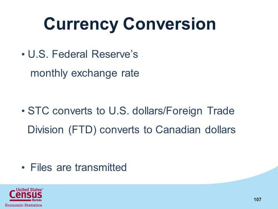Currency Conversion monthly exchange rate