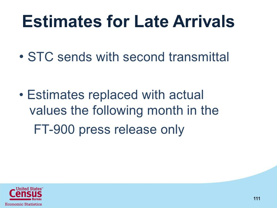 Estimates for Late Arrivals
