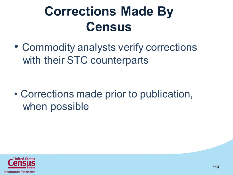 Corrections Made By Census