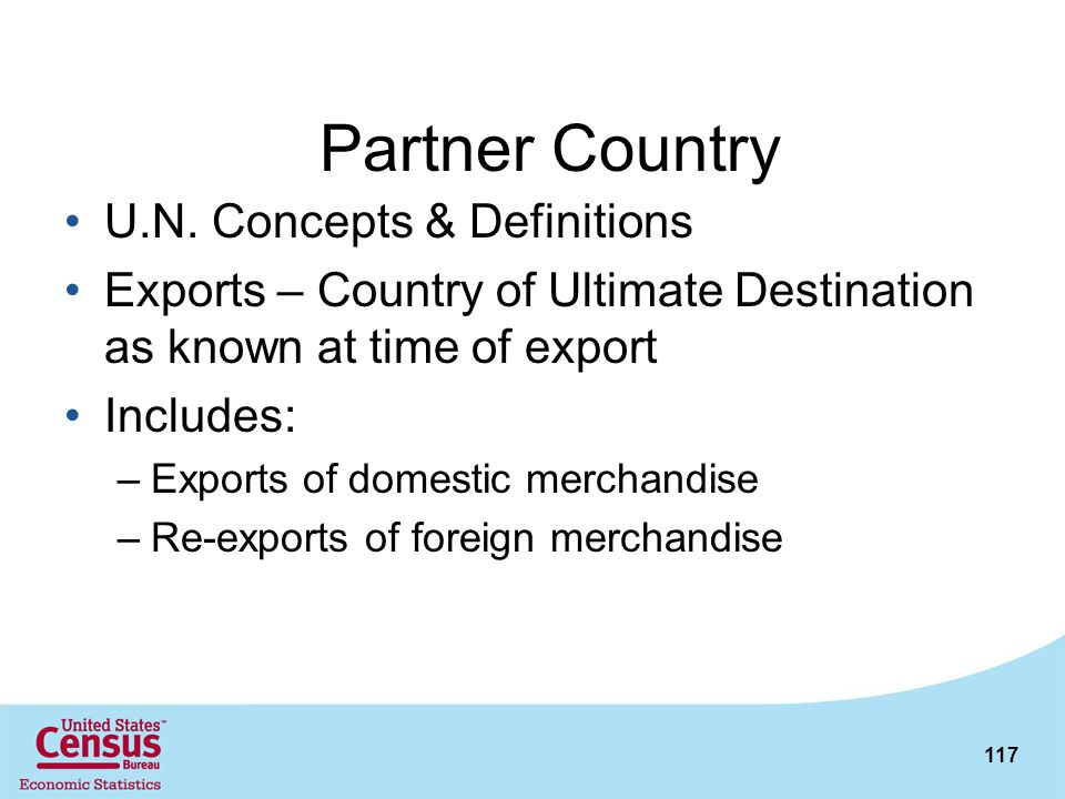 Partner Country U.N. Concepts & Definitions