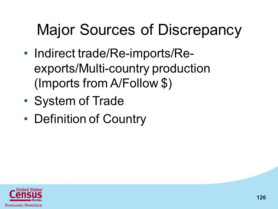 Major Sources of Discrepancy