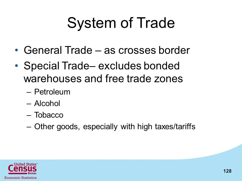 System of Trade General Trade – as crosses border