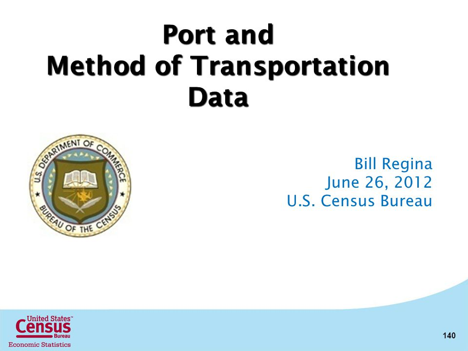Method of Transportation Data