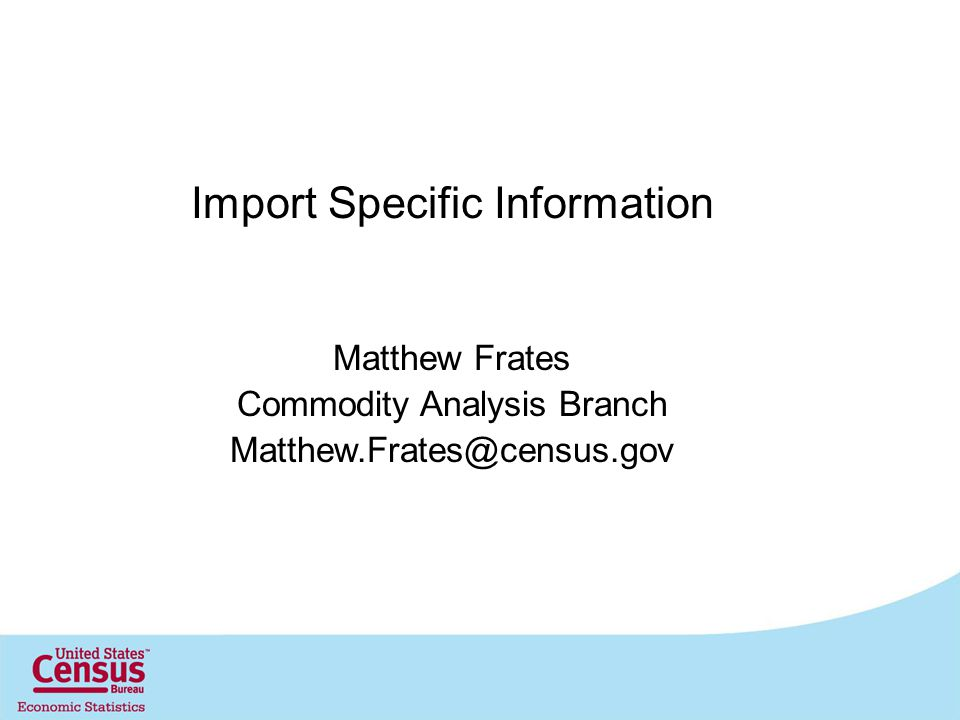 Import Specific Information