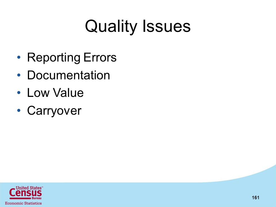 Quality Issues Reporting Errors Documentation Low Value Carryover