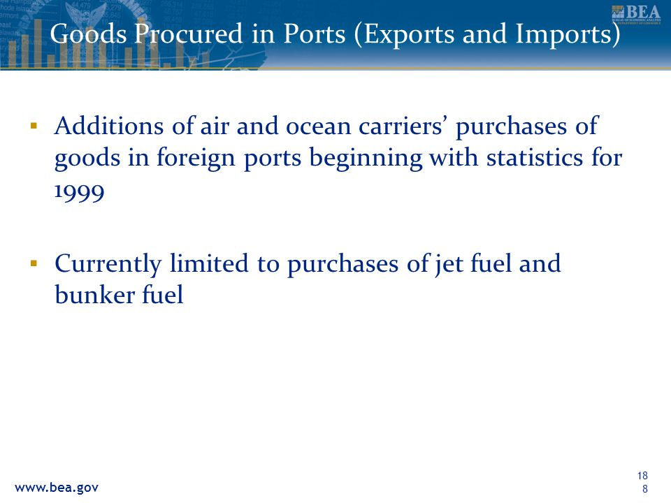 Goods Procured in Ports (Exports and Imports)
