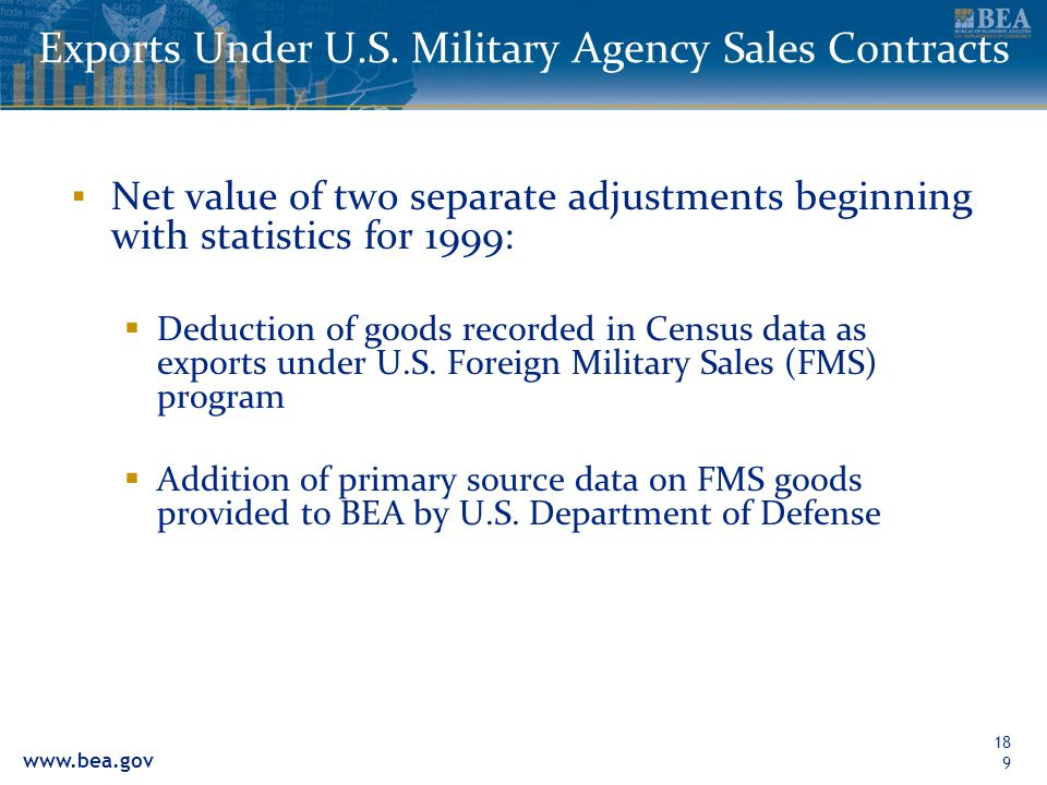 Exports Under U.S. Military Agency Sales Contracts