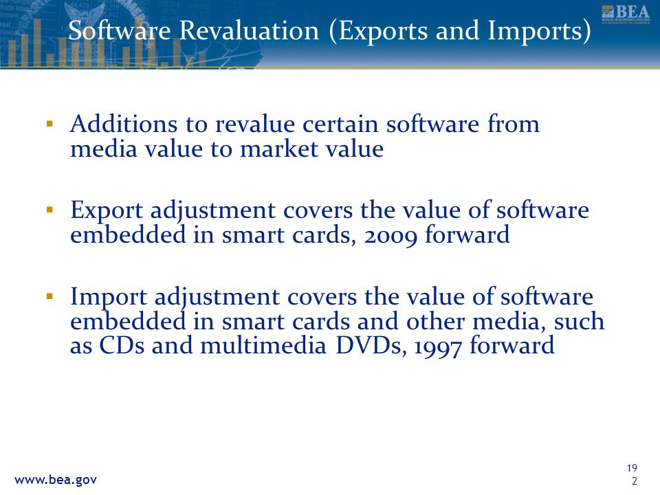 Software Revaluation (Exports and Imports)
