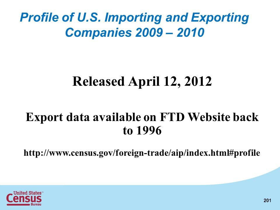Profile of U.S. Importing and Exporting Companies 2009 – 2010