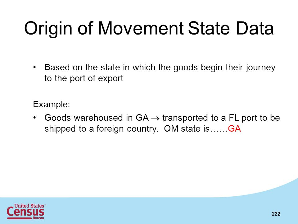 Origin of Movement State Data