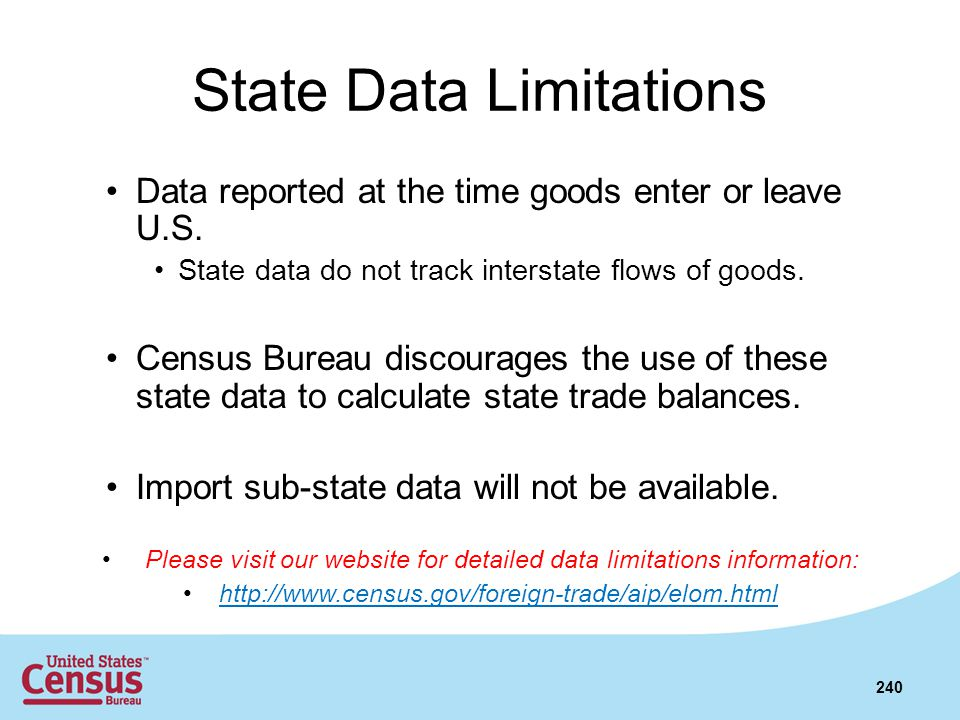 State Data Limitations