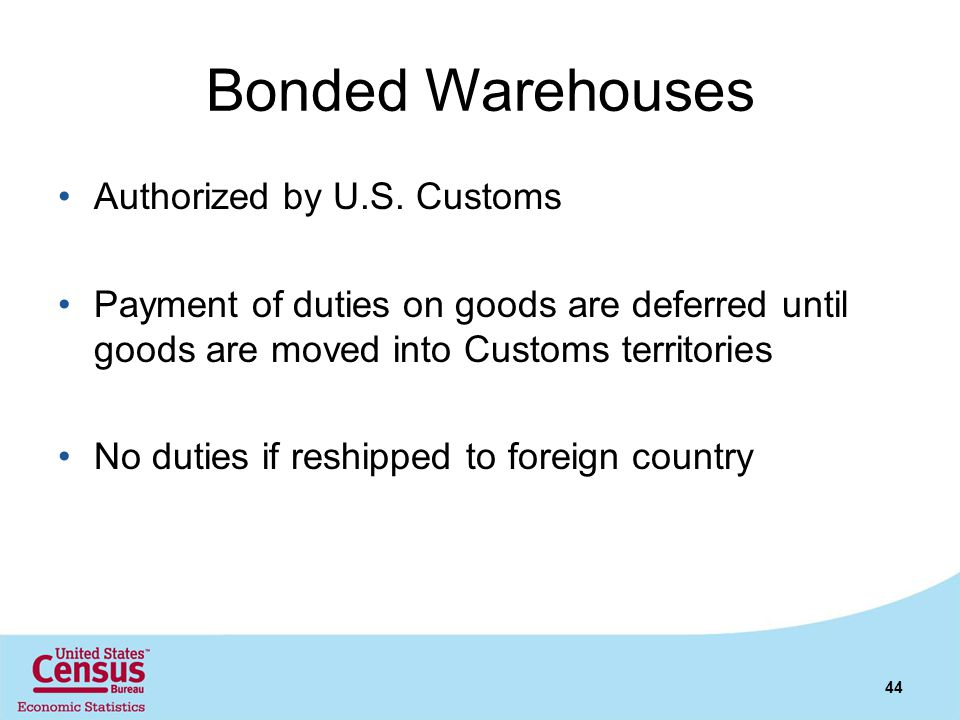 Bonded Warehouses Authorized by U.S. Customs