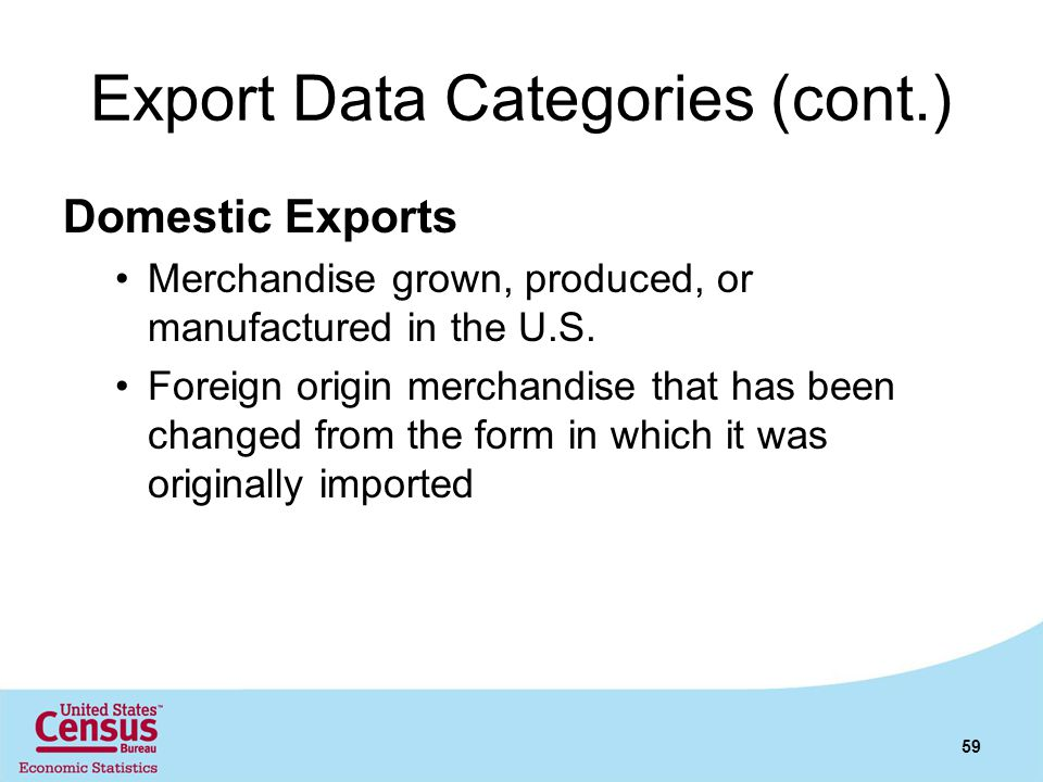 Export Data Categories (cont.)