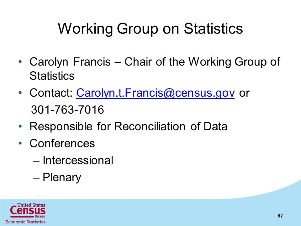 Working Group on Statistics