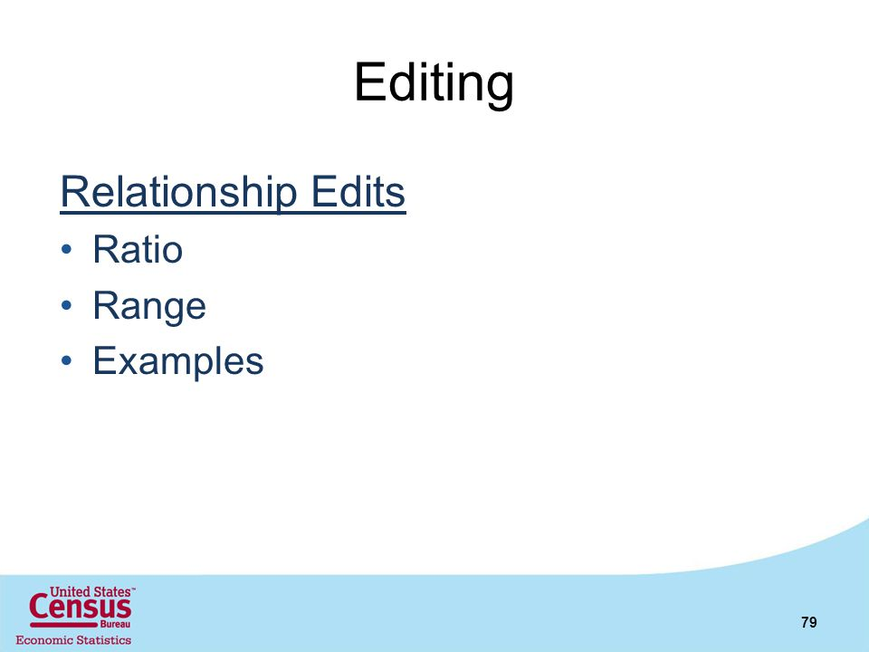 Editing Relationship Edits Ratio Range Examples