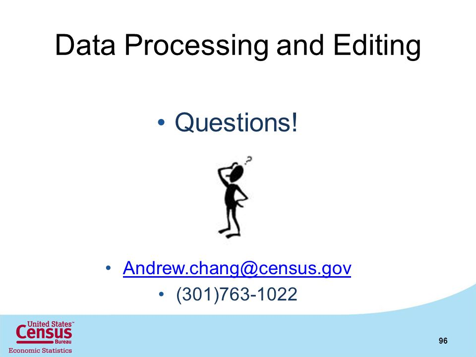 Data Processing and Editing