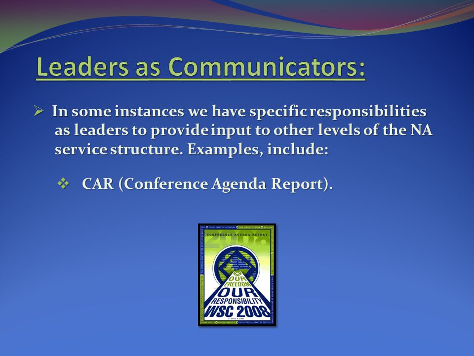 Leaders as Communicators: