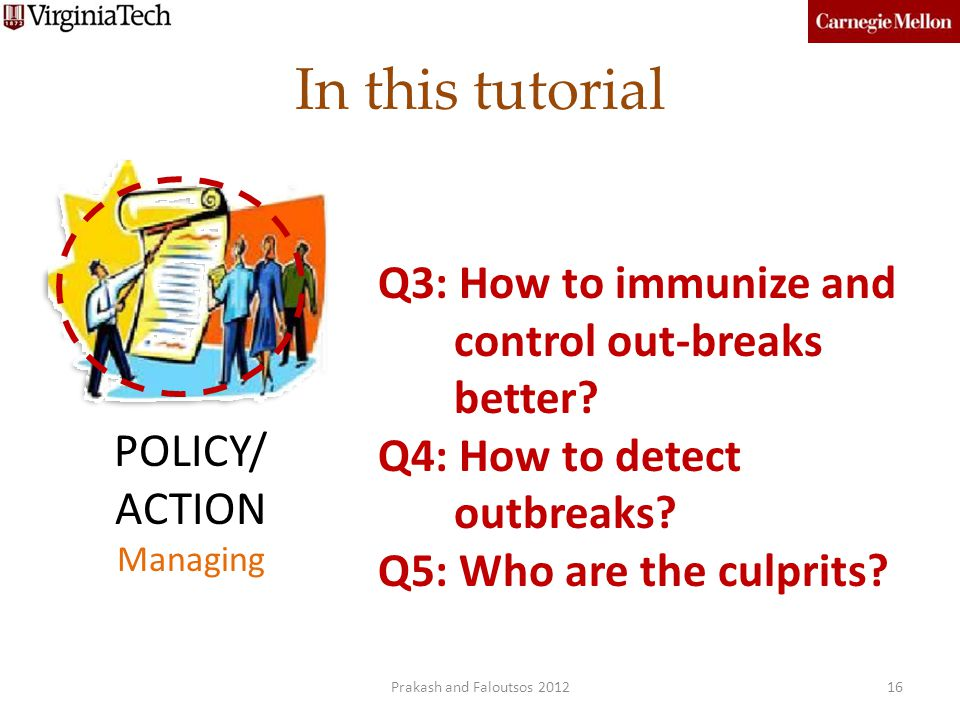 In this tutorial Q3: How to immunize and control out-breaks better