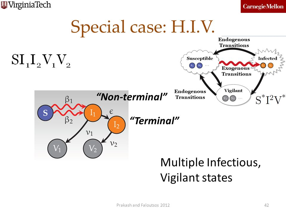 Special case: H.I.V. Multiple Infectious, Vigilant states