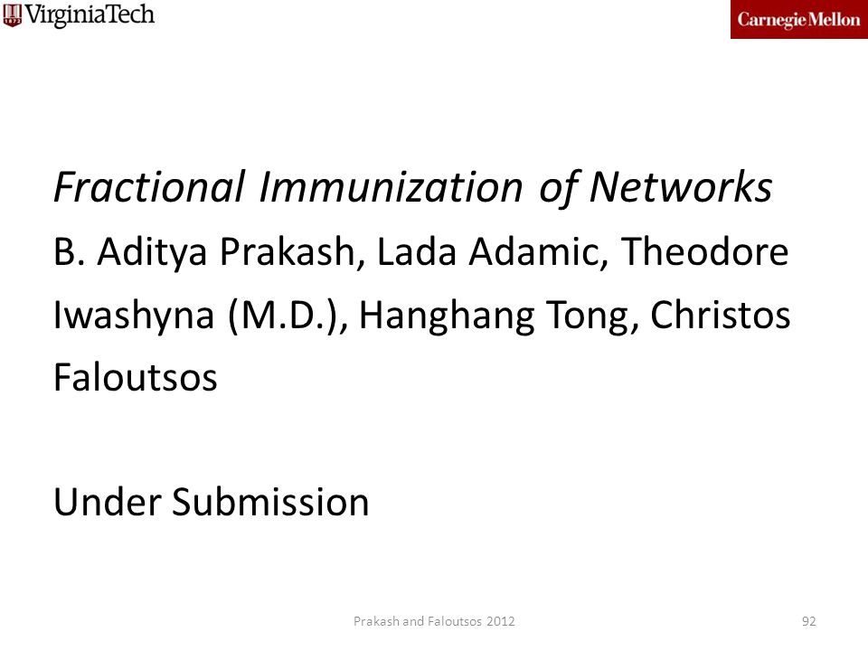 Fractional Immunization of Networks