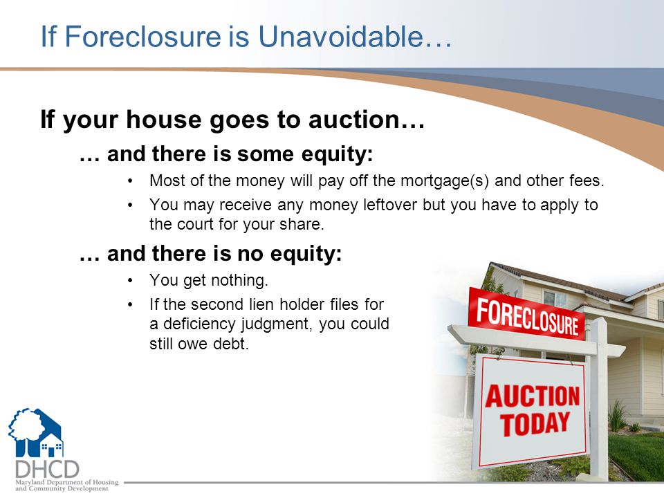 If Foreclosure is Unavoidable…