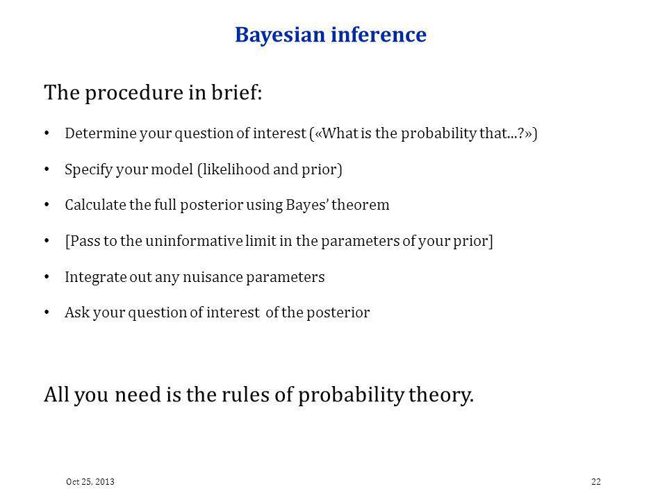 The procedure in brief: