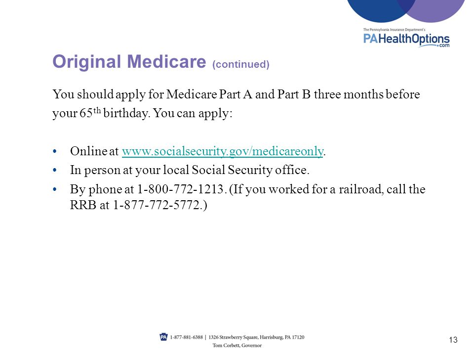 Original Medicare (continued)